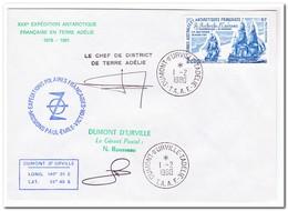 Frans Antarctica 1980, FDC, Ship - FDC
