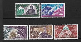 """MONACO  1968 Lot De 5 Timbres Du N° 758 à 762  """" Bi-centenaire Du Vicomte De Chateaubriand """"  NEUFS - Unused Stamps"""
