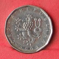 CZECH REPUBLIC 2 KORUNY 2002 -    KM# 9 - (Nº28397) - Tschechische Rep.