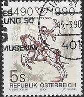AUSTRIA 1990 500th Anniv Of Regular European Postal Services - 5s Courier (Albrecht Durer) AVU - 1945-.... 2ème République