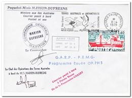 Frans Antarctica 1979, Ship, Birds - Brieven En Documenten