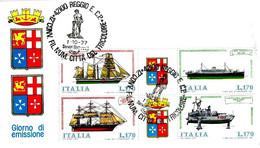 ITALIA - 1977 REGGIO EMILIA 12° Convegno Fil. Num. Città Del Tricolore (monumento Al Crostolo, Fontana) Su Blocco NAVI - Marittimi