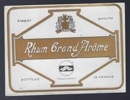 """Ancienne étiquette  Rhum  Grand Arôme """"ccc"""" - Rhum"""