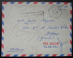 Oran Lartigue Algérie 1956 Cachet Hexagonal, Franchise Militaire B.A.N - Cartas