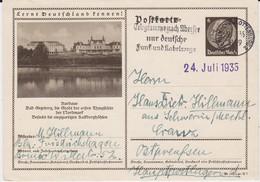 DR 3 Reich Ganzsache P 236 Bildpostkarte Bad Segeberg Gel MWSt Berlin 1935 - Deutschland