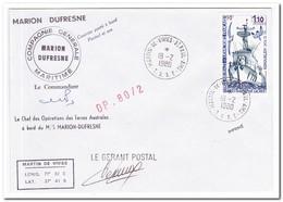 Frans Antarctica 1980, Ship - Franse Zuidelijke En Antarctische Gebieden (TAAF)