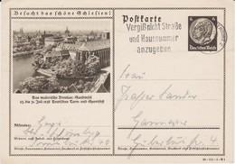 DR 3 Reich Ganzsache P 236 Bildpostkarte Breslau Turnfest Schlesien Gel MWSt Berlin 1938 - Deutschland
