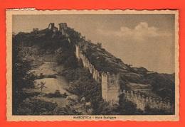Marostica Le Mura Scaligere Cpa Viaggiata Nel 1943 Censura Militare - Vicenza