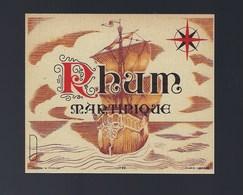 """Ancienne étiquette  Rhum  Martinique """"bateau"""" Imp Gensay & Pichot Paris N°199 - Rhum"""