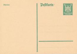 DR -  1925 , Adler - Postkarte Gezähnt - Deutschland