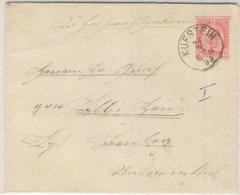 Österreich - 5 Kr. Franz-Joseph, GA-Umschlag Kufstein - Brixlegg 1895 - Entiers Postaux