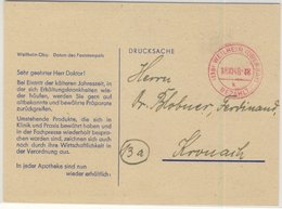 All.Bes. - Gebühr Bezahlt Roter Tagesstpl. Drucksachenkarte Weilheim - Kronach - Non Classificati