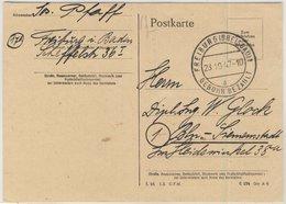 FZ - Gebühr Bezahlt Freiburg (Breisgau) Tagesstempel Karte N. Berlin 1947 - Deutschland