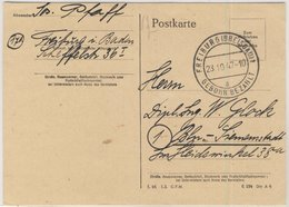 FZ - Gebühr Bezahlt Freiburg (Breisgau) Tagesstempel Karte N. Berlin 1947 - Non Classificati