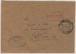 SBZ - Gebühr Bezahlt, Roter Ra1 A. Brief Frankenstein (Sachsen) - Flöha 1945 - Deutschland