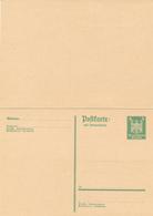 DR -  1926 , Adler - Postkarte Mit Antwortkarte - Deutschland