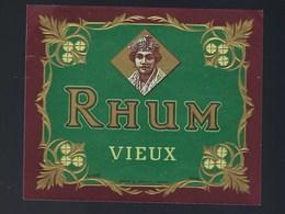 """Ancienne étiquette  Rhum Vieux Spécimen N°630 Douin & Jouneau Succ 3 Rue Papin Paris """"visage Femme"""" - Rhum"""