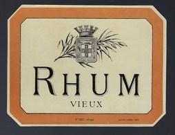 """Ancienne étiquette  Rhum Vieux Spécimen N°526  Douin & Jouneau  3 Rue Papin Paris """"étiquette Vernie"""" - Rhum"""