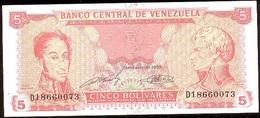 Venezuela 5 Bolívares 21-9-1989 Pk 70 B Serie De 8 Nºs Y Firmas En Verde UNC - Venezuela