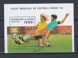Benin 1998 World Cup FIFA Football France Souvenir Sheet - From 1996 Used (H49) - Coupe Du Monde