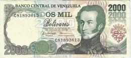 Venezuela 2000 Bolívares 10-2-1998 Pk 77 B Ref 18 - Venezuela
