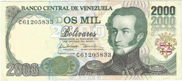 Venezuela 2000 Bolívares 10-2-1998 Pk 77 B Ref 19 - Venezuela