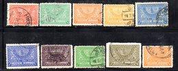 APR533 - ARABIA SAUDITA   REGNO 1934, 10 Valori  Usati (2380A). - Arabia Saudita