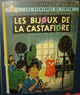 TINTIN.LES BIJOUX DE LA CASTAFIORE.EO Belge,Casterman.4 Eme Plat B 34.Dos Jaune.1963. - Tintin