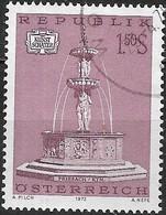 AUSTRIA 1972 Austrian Art Treasures. Fountains - 1s50 Roman Fountain, Friesach FU - 1945-.... 2ème République