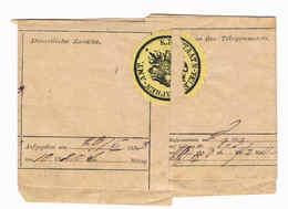 Österreich 1883 Telegramm Mit Siegelmarke K.K. Staats-Telegraphen-Amt; D4050 - 1850-1918 Empire