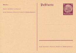 DR -  1933/4  , Hindenburg - Postkarte  Gezähnt - Deutschland