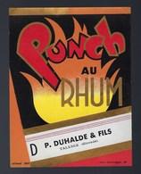 Ancienne étiquette Punch Au Rhum  P Duhalde Et Fils Talence Gironde  Imp Nolasque Bordeaux  N°368 - Rhum