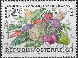 AUSTRIA 1974 Second Int Horticultural Show, Vienna - 2s Vegetables FU - 1945-.... 2ème République