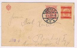 Österreich Austria Kartenbrief 10 Auf 9 Heller Gebr. Wien-Bresburg 1907; D4473 - 1850-1918 Empire