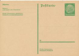 DR -  1933  , Hindenburg - Postkarte  Gezähnt - Deutschland