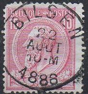 N° 46 Oblitération BILSEN (défauts) - 1884-1891 Leopold II.