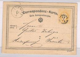 Österreich Ganzsache 1875 Lemberg (Lwow, Ukraine) Nach Türnitz; D4478 - 1850-1918 Empire