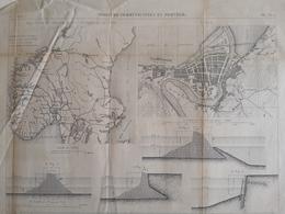 ANNALES DES PONTS Et CHAUSSEES (Norvège) - Voies De Communication En Norvège - Gravé Par Macquet 1887 (CLF81) - Travaux Publics