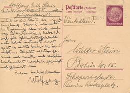 EINDHOVEN / NL  -  1940  , Hindenburg - Postkarte  , Carte Postale - Reponse - Deutschland