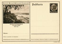DR  -  1934  , Hindenburg - Postkarte  , BPK  Graudenz - Deutschland