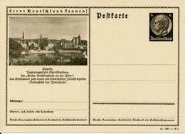 DR  -  1934  , Hindenburg - Postkarte  , BPK  Oppeln - Deutschland