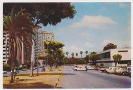 ZIMBABWE HARARE National Art Gallery, Old Car Citroen DC, Nice Train Stamp Old Postcard - Zimbabwe