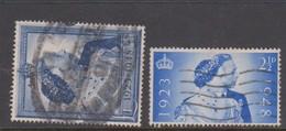 Great Britain SG 493-494 1948 Royal Silver Wedding, Used - 1902-1951 (Reyes)