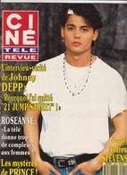 Ciné Télé Revue 9033 Johnny Depp Demongeot Roseanne Barr Marlon Brando Andrew Stevens Prince Meryl Streep Landau MacLain - People