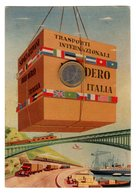 S6529 CARTOLINA POSTALE RACCOMANDATA 1957 AVANDERO TRASPORTI INTERNAZIONALI - Illustrateurs & Photographes