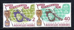 APR537 - NUOVE EBRIDI HEBRIDES 1966 , Yvert N. 235/236  ***  (2380A).  FOOTBALL - Légende Française