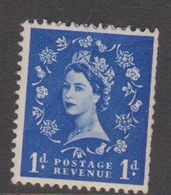 Great Britain SG 516 1953 Queen Elizabeth II, 1d Ultramarine, Mint Hinged - 1952-.... (Elizabeth II)