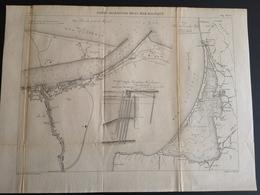 ANNALES DES PONTS Et CHAUSSEES (Allemagne) - Ports Allemands De La Mer Baltique - Gravé Par Macquet 1891 (CLF83) - Obras Públicas