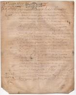 Véritable Parchemin Manuscrit Acte Notarié Notaire 17ème 1677 Cachet Généralité D'Orléans 10 S. 2 Rolle 4 Pages - Manuscrits