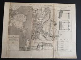 ANNALES DES PONTS Et CHAUSSEES (Allemagne) - Ports Allemands De La Mer Baltique - Gravé Par Macquet 1891 (CLF84) - Travaux Publics